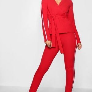 Sports Stripe Belted Trouser Co-ord Set